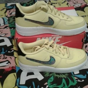 Yellow Nike Air Force Ones
